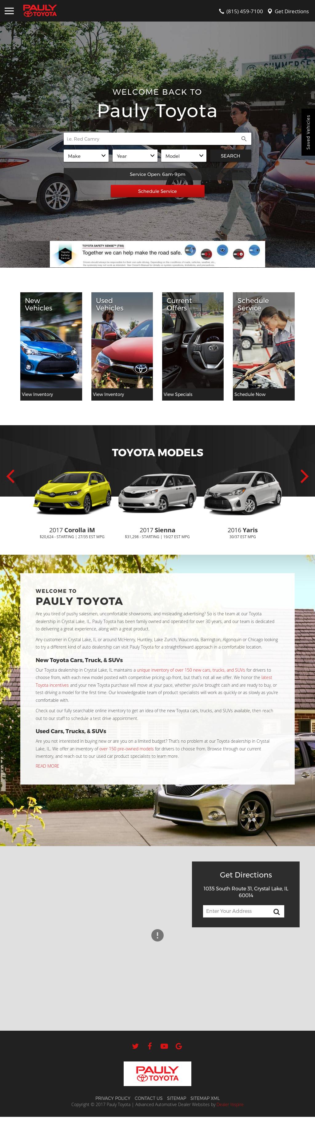 Pauly Toyota Website History