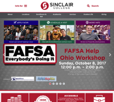 Sinclair Community College website history
