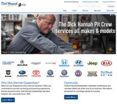 Dick Hannah website history