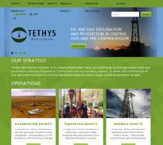 Tethys Petroleum website history