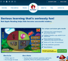Red Apple Reading website history