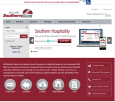 Southern Bank website history