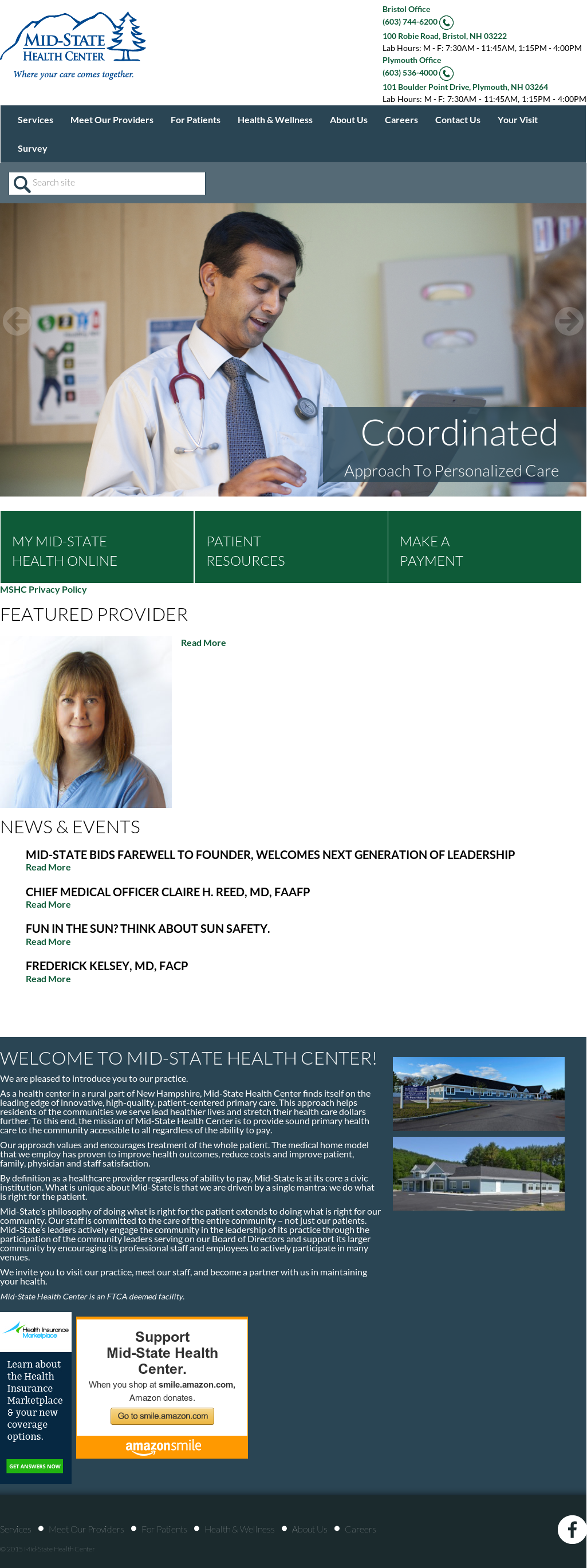 Mid State Health Center Compeors