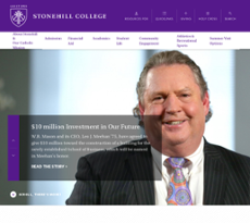 Stonehill College website history