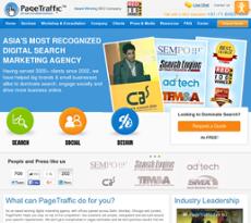 PageTraffic website history