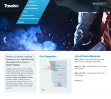 Taseko website history