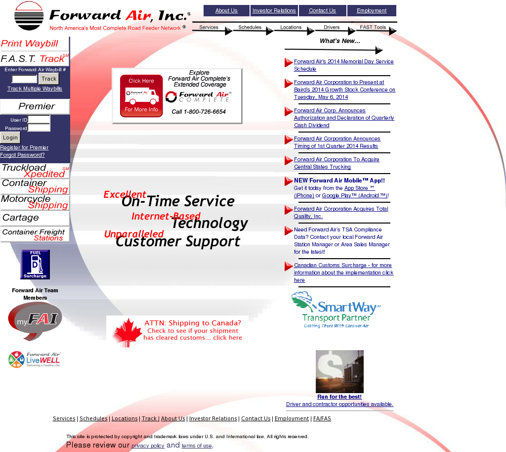 Forward Air Competitors, Revenue and Employees - Owler