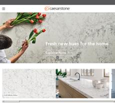 Caesarstone website history