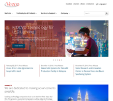 Veeco Instruments website history