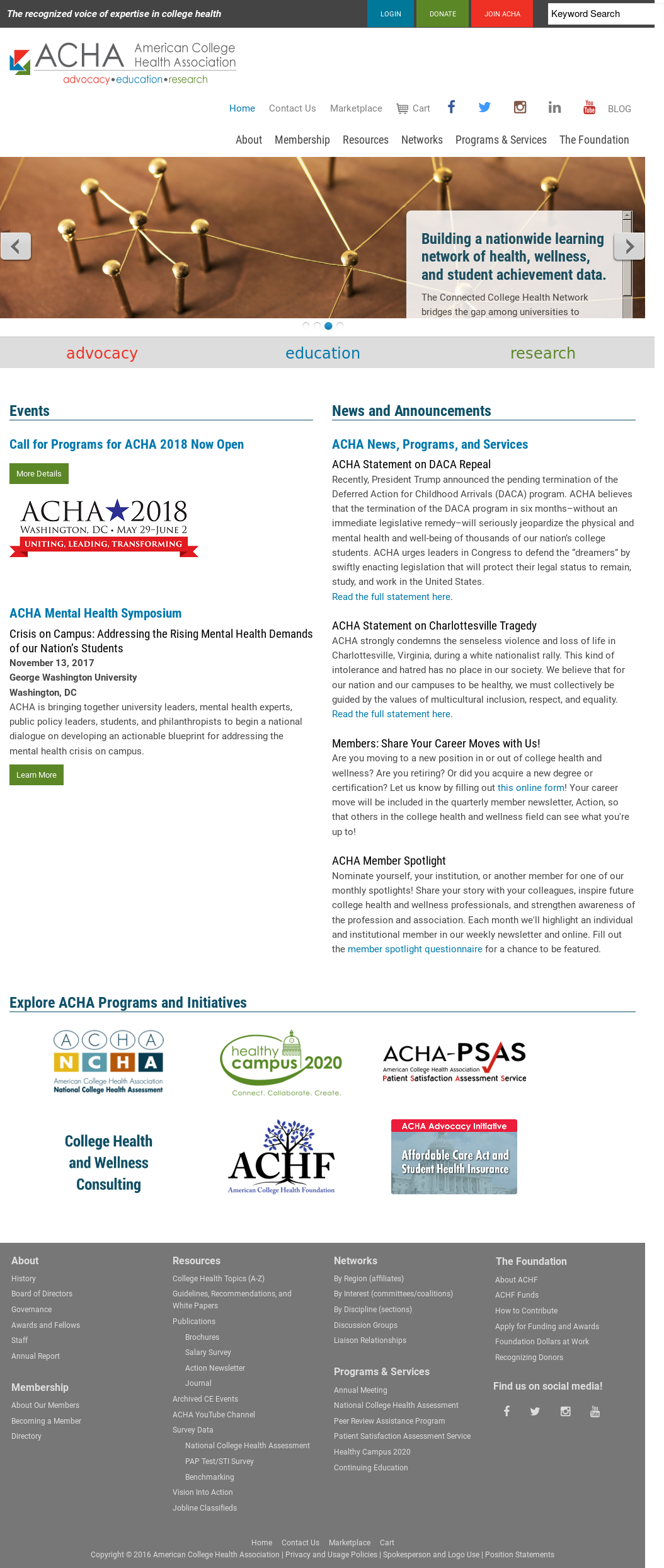 American College Health Association Competitors, Revenue and