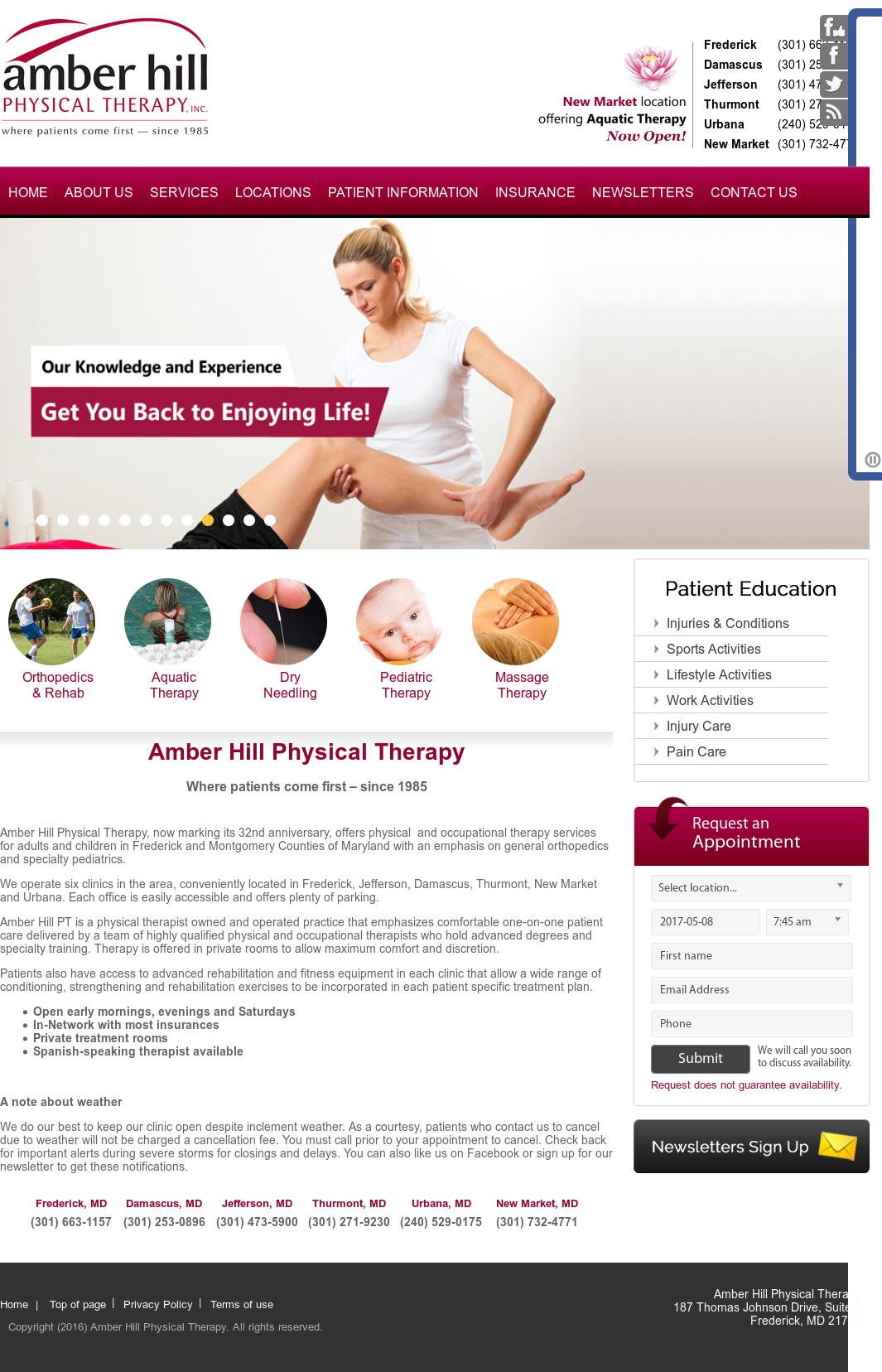 Amber Hill Physical Therapy Competitors, Revenue and