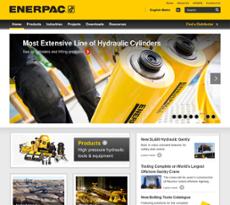 Enerpac website history