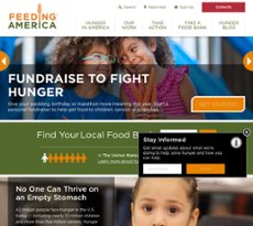 Feeding America website history