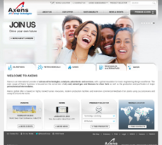 Axens website history