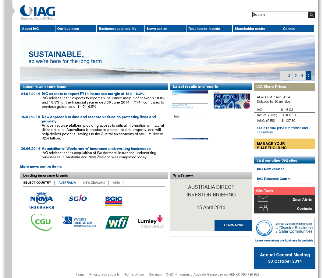 Iag Home Insurance Policy