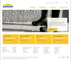 Santam website history