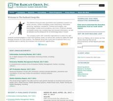 The Radicati Group website history