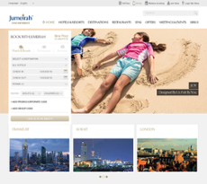 Jumeirah website history