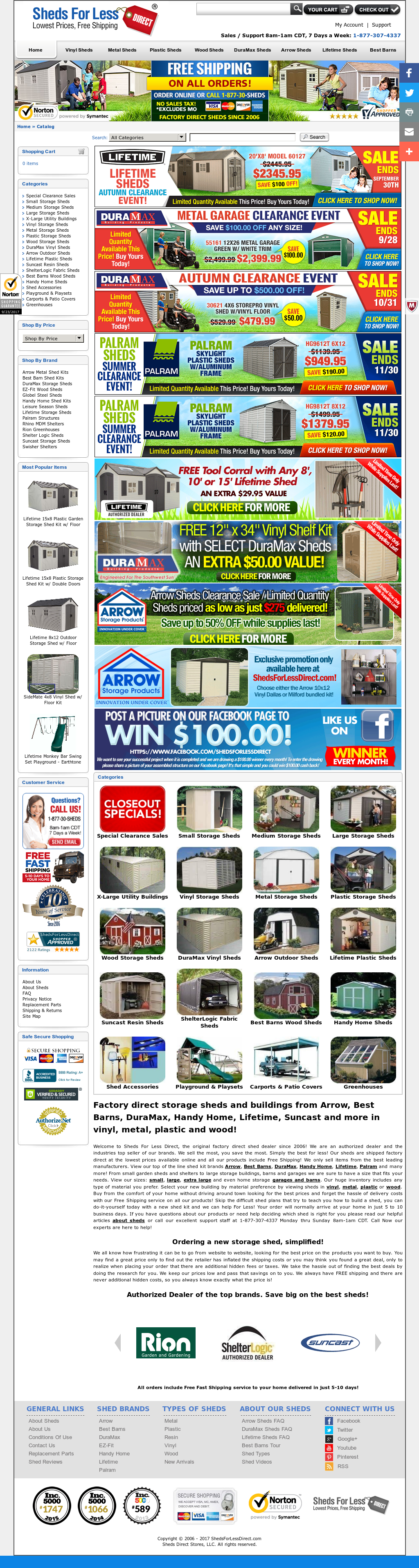Sheds For Less Direct website history  sc 1 st  Owler & Sheds For Less Direct Competitors Revenue and Employees - Owler ...