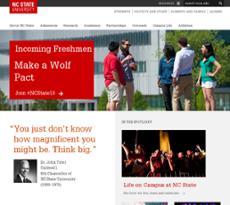 North Carolina State University website history