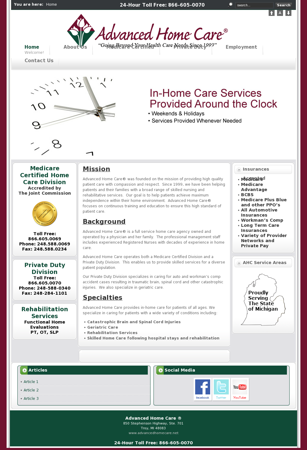 Advanced home care competitors revenue and employees for Advanced home