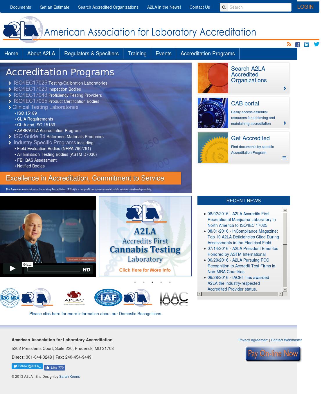 A2LA Competitors, Revenue and Employees - Owler Company Profile