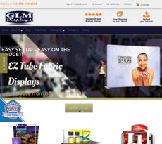 GLM Displays website history