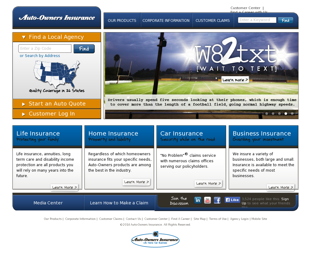Auto Owners Login >> Auto Owners Insurance Competitors Revenue And Employees Owler