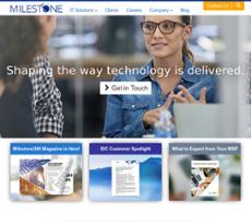 Milestone Technologies website history