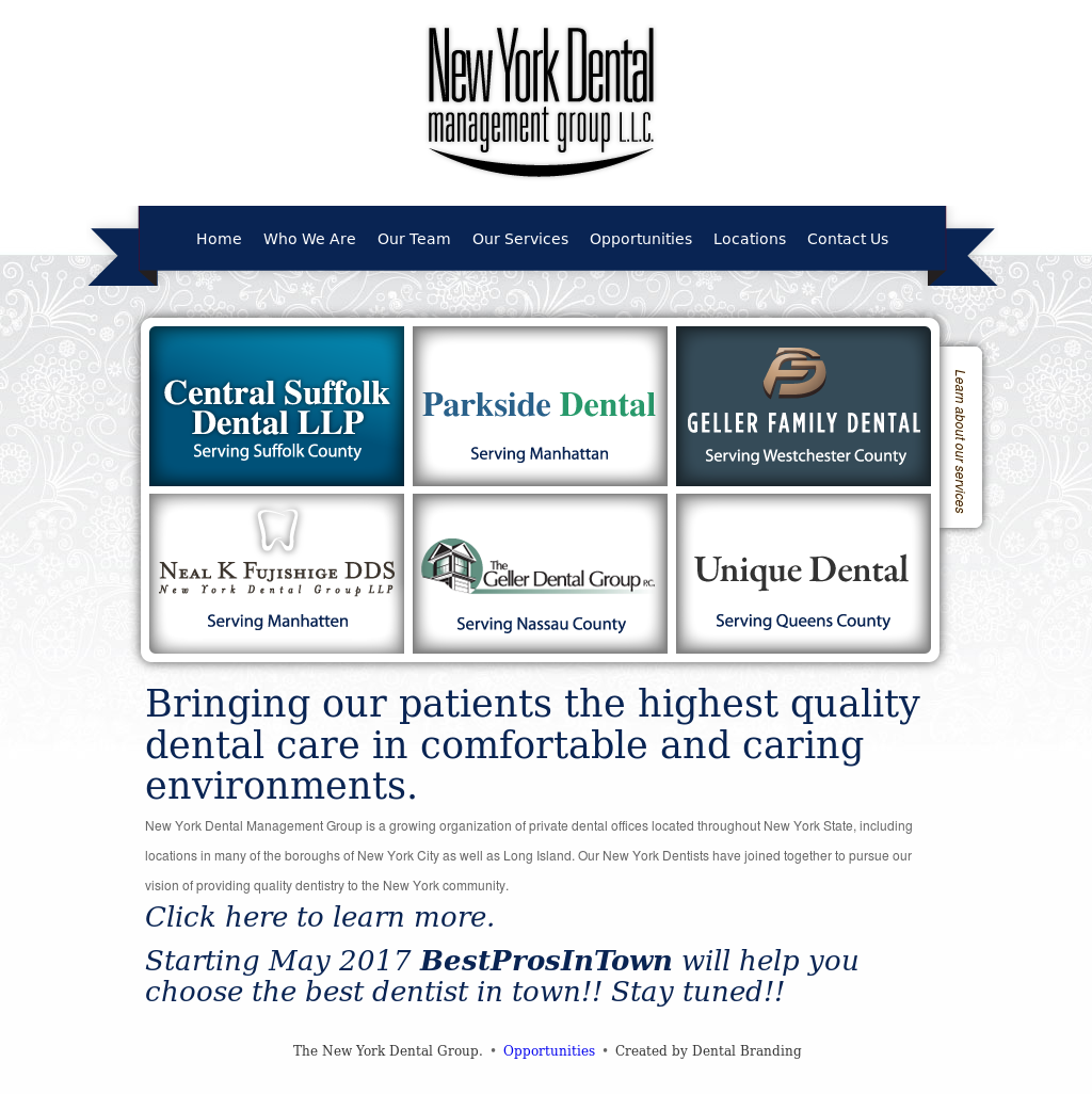 New York Dental Management Group Competitors, Revenue and
