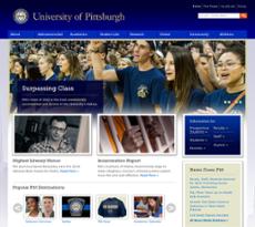 University of Pittsburgh website history