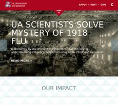 University of Arizona website history