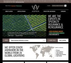 Aspen Insurance website history