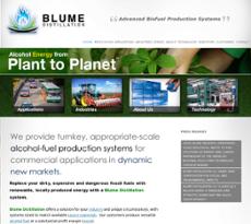 BLUME DISTILLATION website history