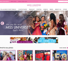 Miss Universe website history