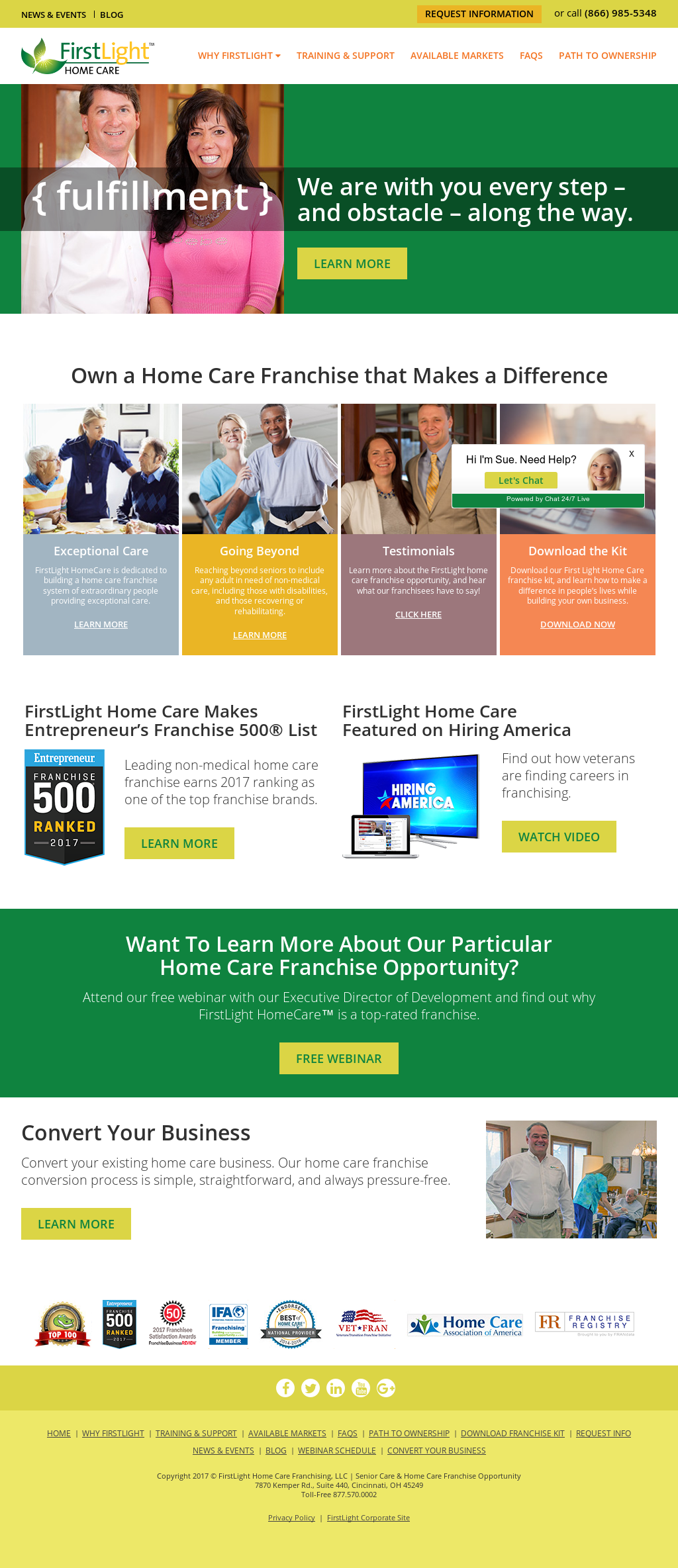 FirstLight HomeCare Website History