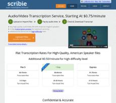 Scribie website history