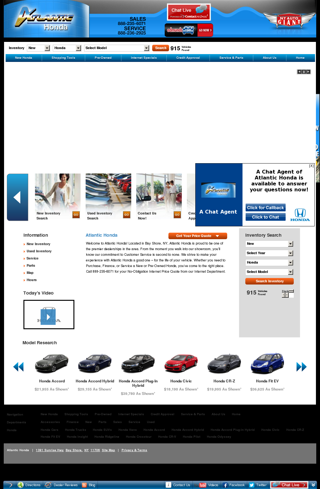Atlantic Honda Competitors Revenue And Employees
