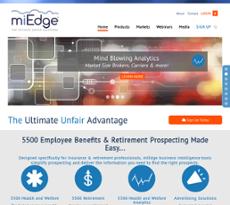 miEdge website history