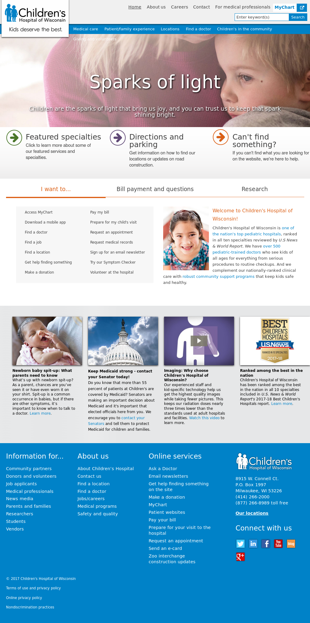 Children's Hospital of Wisconsin Competitors, Revenue and