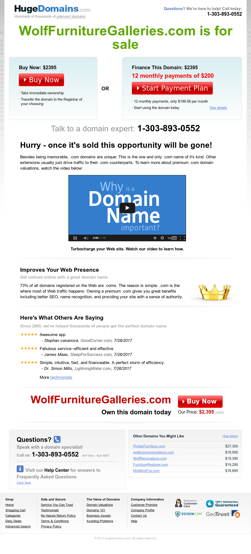 Wolf Furniture Galleriesu0027s Website Screenshot On Sep 2017