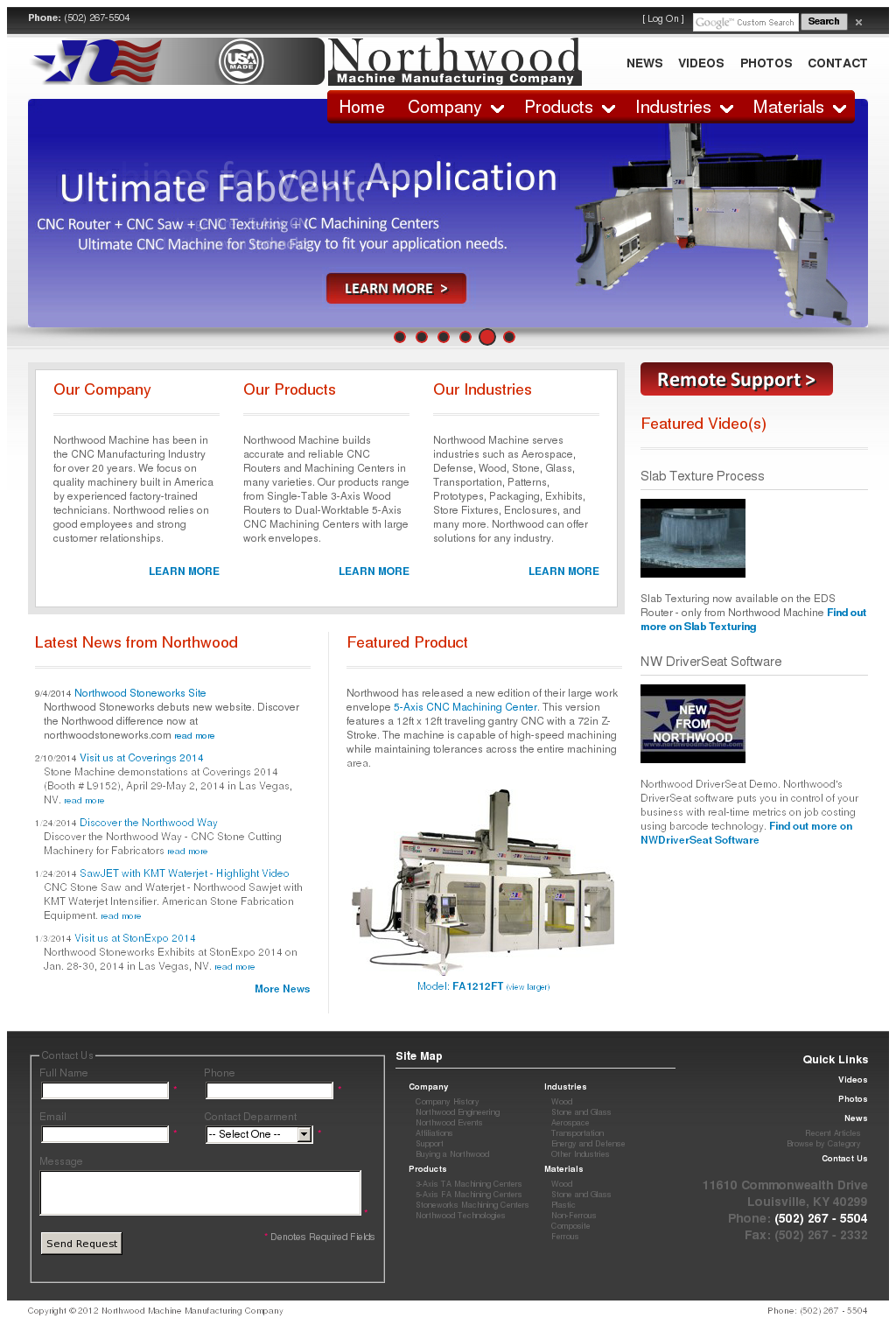 Northwood Machine Manufacturing Company Competitors, Revenue