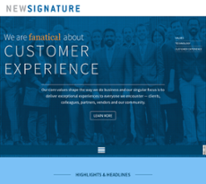 New Signature website history