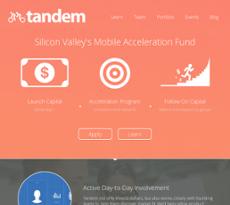 Tandem website history