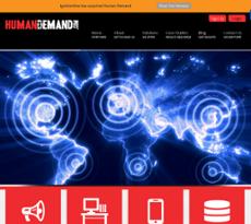 Human Demand website history