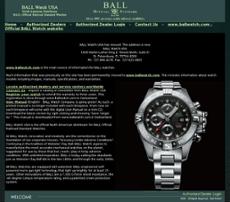 BALL Watch USA website history