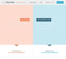 Interfolio website history