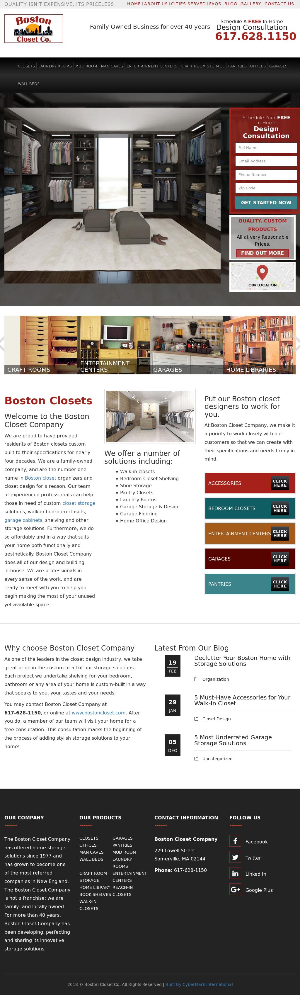 Boston Closetu0027s Website Screenshot On Mar 2018