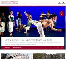 Fordham University website history