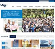 UCSF website history